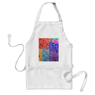 RAINBOW DROPS : Colorful Dot patterns Adult Apron