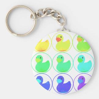 Rainbow Duckies Pattern Design Keychains