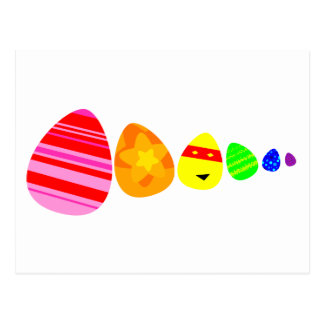 Rainbow Easter Eggs Postcard
