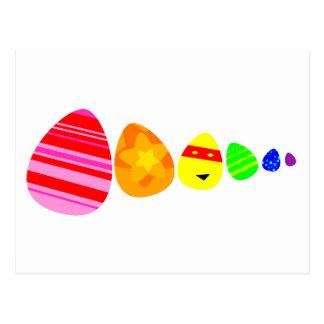 Rainbow Easter Eggs Postcard
