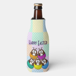 rainbow Easter owl cooler