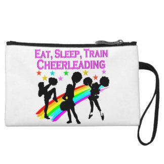 RAINBOW EAT SLEEP CHEERLEADING DESIGN WRISTLET
