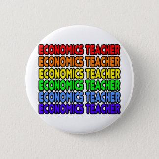 Rainbow Economics Teacher 6 Cm Round Badge