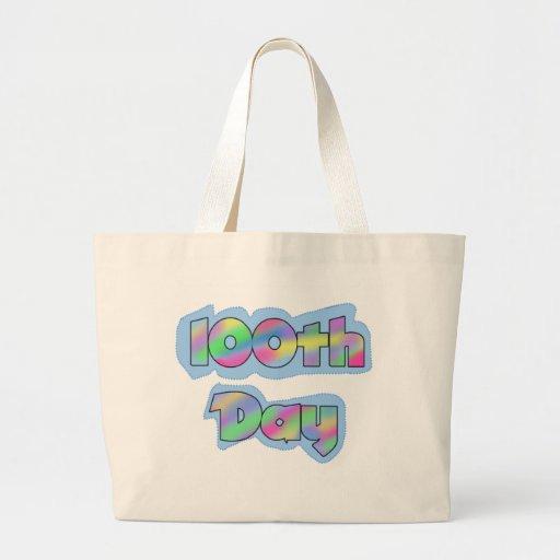 Rainbow Effect 100th Day of School Tshirts Bag
