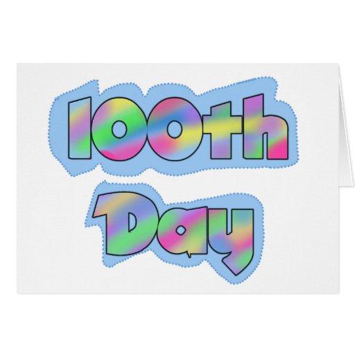 Rainbow Effect 100th Day of School Tshirts Card