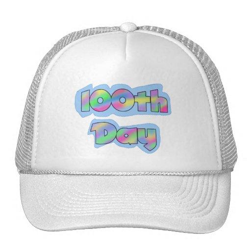 Rainbow Effect 100th Day of School Tshirts Hats