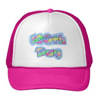Rainbow Effect 100th Day of School Tshirts Mesh Hat