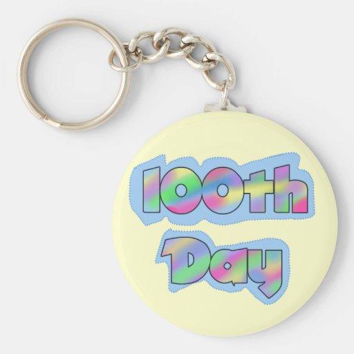 Rainbow Effect 100th Day of School Tshirts Keychains