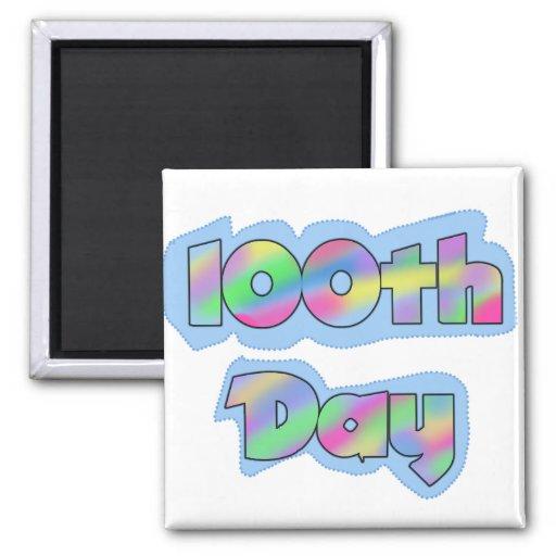 Rainbow Effect 100th Day of School Tshirts Magnets