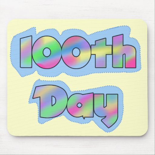 Rainbow Effect 100th Day of School Tshirts Mousepad