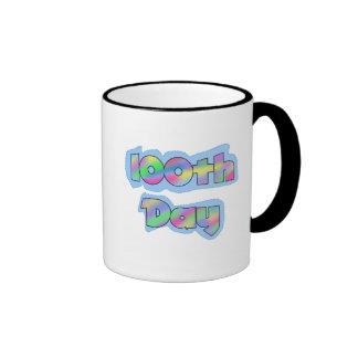 Rainbow Effect 100th Day of School Tshirts Mugs