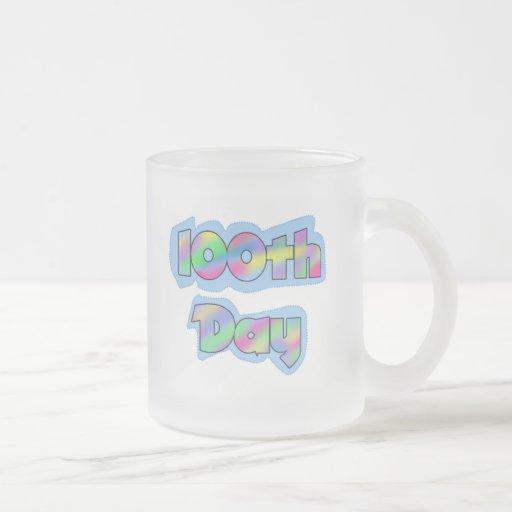 Rainbow Effect 100th Day of School Tshirts Coffee Mug