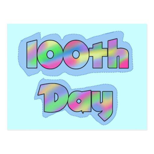 Rainbow Effect 100th Day of School Tshirts Postcards