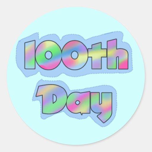 Rainbow Effect 100th Day of School Tshirts Sticker