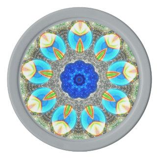 Rainbow Eggs Fractal Poker Chips
