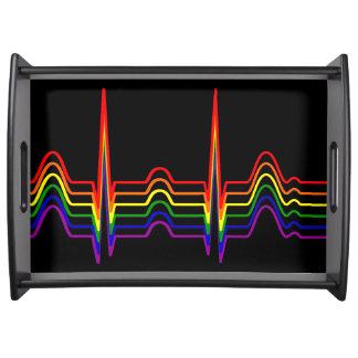 Rainbow EKG Bi-G Serving Tray