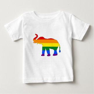 Rainbow Elephant Baby T-Shirt