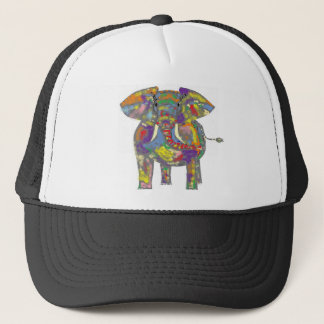 Rainbow Elephant, colourful design,for anyone. Trucker Hat
