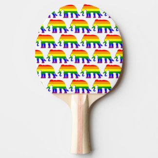 Rainbow elephant pattern ping pong paddle