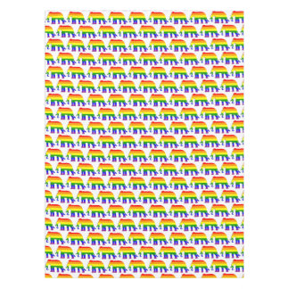 Rainbow elephant pattern tablecloth