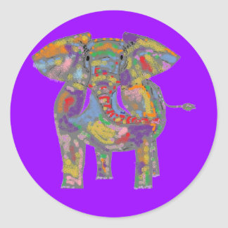 Rainbow Elephant Sticker