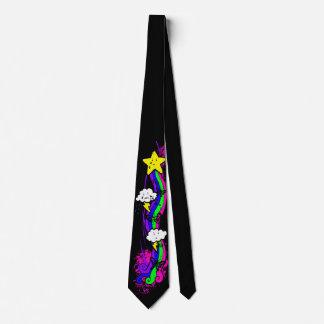 Rainbow Emo Grunge Tie