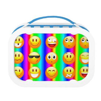 rainbow emoji lunch box lunchbox