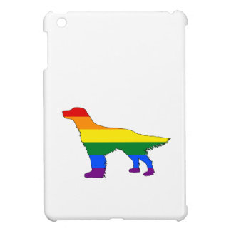 Rainbow English Setter iPad Mini Cover