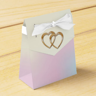 Rainbow Entwined Hearts-Gift Bag 1 Favour Box