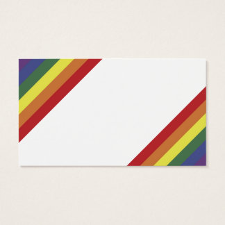 Rainbow Equality Pride Color Stripes Business Card