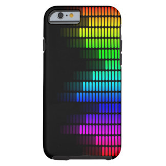 rainbow equalizer tough iPhone 6 case