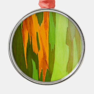 Rainbow Eucalyptus bark, Hawaii Metal Ornament