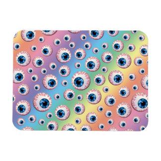 Rainbow eyeball pattern magnet
