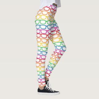 Rainbow Eyeglasses Leggings