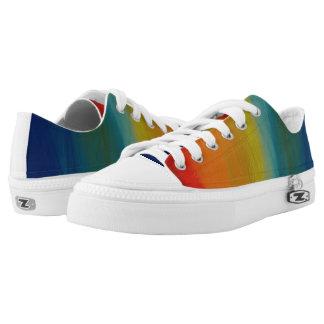 Rainbow fade zip sneakers