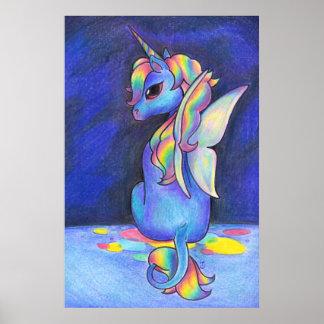 Rainbow Faerie Unicorn Poster