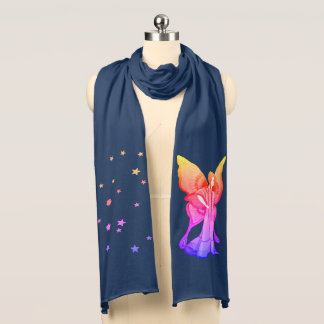Rainbow Fairy and Stars jersey scarf