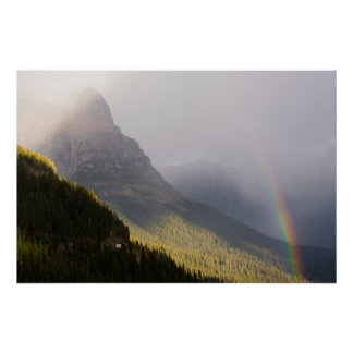 Rainbow Fall Color Rocky Mountains Glacier NP Poster