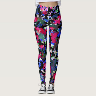 Rainbow Fall Leaves Leggings