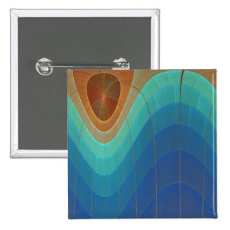 Rainbow Falls Abstract Art 15 Cm Square Badge