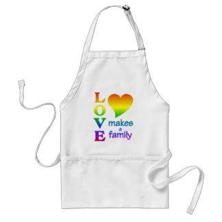 Rainbow Family apron - choose style, color