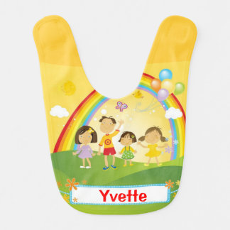 Rainbow Family Theme Baby Bib
