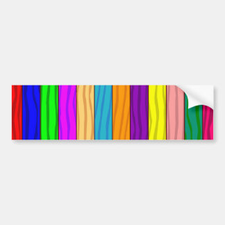 Rainbow Fence Bumper Sticker