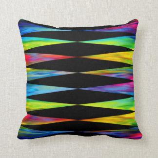 [Rainbow Fiesta] Bright Harlequin Geometric Cushion