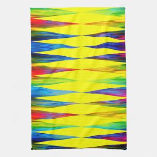 [Rainbow Fiesta] Bright Harlequin Geometric Tea Towel