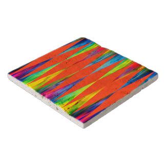 [Rainbow Fiesta] Bright Harlequin Geometric Trivet