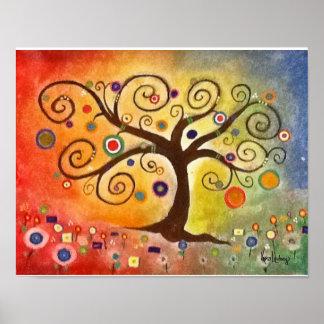 Rainbow Fine Art Tree of Life Painting Print