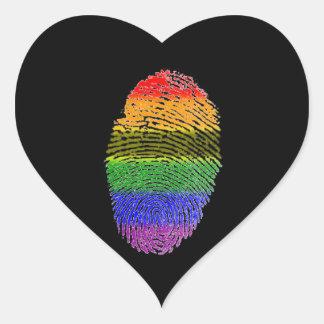 Rainbow FingerPrint Stickers
