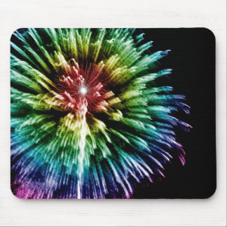 Rainbow fireworks mousepad
