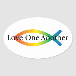 Rainbow Fish Love Sticker